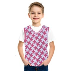 Houndstooth2 White Marble & Pink Denim Kids  Sportswear
