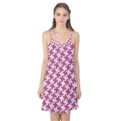 HOUNDSTOOTH2 WHITE MARBLE & PINK DENIM Camis Nightgown