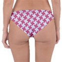 HOUNDSTOOTH2 WHITE MARBLE & PINK DENIM Reversible Hipster Bikini Bottoms View4