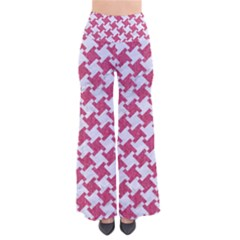 HOUNDSTOOTH2 WHITE MARBLE & PINK DENIM So Vintage Palazzo Pants
