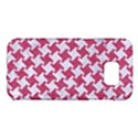 HOUNDSTOOTH2 WHITE MARBLE & PINK DENIM Samsung Galaxy S7 Edge Hardshell Case View1