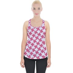 HOUNDSTOOTH2 WHITE MARBLE & PINK DENIM Piece Up Tank Top
