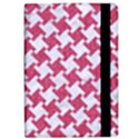 HOUNDSTOOTH2 WHITE MARBLE & PINK DENIM Apple iPad Pro 10.5   Flip Case View2