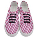 HOUNDSTOOTH2 WHITE MARBLE & PINK DENIM Women s Classic Low Top Sneakers View1