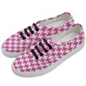 HOUNDSTOOTH2 WHITE MARBLE & PINK DENIM Women s Classic Low Top Sneakers View2