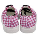 HOUNDSTOOTH2 WHITE MARBLE & PINK DENIM Women s Classic Low Top Sneakers View4