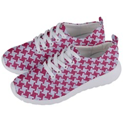 HOUNDSTOOTH2 WHITE MARBLE & PINK DENIM Men s Lightweight Sports Shoes
