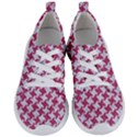 HOUNDSTOOTH2 WHITE MARBLE & PINK DENIM Women s Lightweight Sports Shoes View1