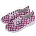 HOUNDSTOOTH2 WHITE MARBLE & PINK DENIM Women s Lightweight Sports Shoes View2