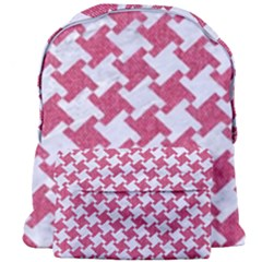 HOUNDSTOOTH2 WHITE MARBLE & PINK DENIM Giant Full Print Backpack