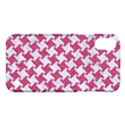 HOUNDSTOOTH2 WHITE MARBLE & PINK DENIM Apple iPhone X Hardshell Case View1