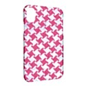 HOUNDSTOOTH2 WHITE MARBLE & PINK DENIM Apple iPhone X Hardshell Case View2