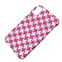 HOUNDSTOOTH2 WHITE MARBLE & PINK DENIM Apple iPhone X Hardshell Case View4