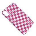 HOUNDSTOOTH2 WHITE MARBLE & PINK DENIM Apple iPhone X Hardshell Case View5