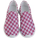 HOUNDSTOOTH2 WHITE MARBLE & PINK DENIM Men s Lightweight Slip Ons View1