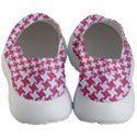 HOUNDSTOOTH2 WHITE MARBLE & PINK DENIM Men s Lightweight Slip Ons View4