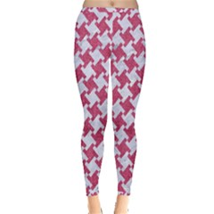 HOUNDSTOOTH2 WHITE MARBLE & PINK DENIM Inside Out Leggings