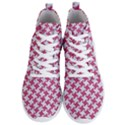 HOUNDSTOOTH2 WHITE MARBLE & PINK DENIM Men s Lightweight High Top Sneakers View1