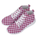 HOUNDSTOOTH2 WHITE MARBLE & PINK DENIM Men s Lightweight High Top Sneakers View2