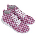 HOUNDSTOOTH2 WHITE MARBLE & PINK DENIM Men s Lightweight High Top Sneakers View3