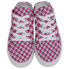 HOUNDSTOOTH2 WHITE MARBLE & PINK DENIM Half Slippers