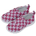 HOUNDSTOOTH2 WHITE MARBLE & PINK DENIM Velcro Strap Shoes View2