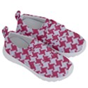 HOUNDSTOOTH2 WHITE MARBLE & PINK DENIM Velcro Strap Shoes View3