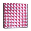 HOUNDSTOOTH1 WHITE MARBLE & PINK DENIM Mini Canvas 8  x 8  View1