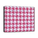 HOUNDSTOOTH1 WHITE MARBLE & PINK DENIM Canvas 10  x 8  View1