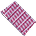 HOUNDSTOOTH1 WHITE MARBLE & PINK DENIM Apple iPad Mini Hardshell Case View5