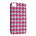 HOUNDSTOOTH1 WHITE MARBLE & PINK DENIM Apple iPhone 4/4S Hardshell Case with Stand View2
