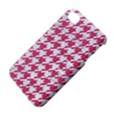 HOUNDSTOOTH1 WHITE MARBLE & PINK DENIM Apple iPhone 4/4S Hardshell Case with Stand View4