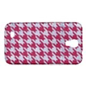 HOUNDSTOOTH1 WHITE MARBLE & PINK DENIM Samsung Galaxy Mega 6.3  I9200 Hardshell Case View1