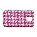 HOUNDSTOOTH1 WHITE MARBLE & PINK DENIM Samsung Galaxy S5 Hardshell Case  View1
