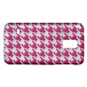 HOUNDSTOOTH1 WHITE MARBLE & PINK DENIM Galaxy S5 Mini View1