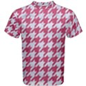 HOUNDSTOOTH1 WHITE MARBLE & PINK DENIM Men s Cotton Tee View1