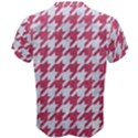 HOUNDSTOOTH1 WHITE MARBLE & PINK DENIM Men s Cotton Tee View2