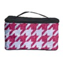 HOUNDSTOOTH1 WHITE MARBLE & PINK DENIM Cosmetic Storage Case View1