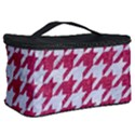 HOUNDSTOOTH1 WHITE MARBLE & PINK DENIM Cosmetic Storage Case View2