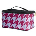 HOUNDSTOOTH1 WHITE MARBLE & PINK DENIM Cosmetic Storage Case View3