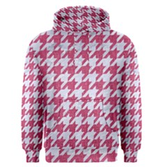 Houndstooth1 White Marble & Pink Denim Men s Pullover Hoodie