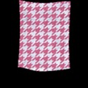 HOUNDSTOOTH1 WHITE MARBLE & PINK DENIM Large Tapestry View2