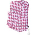 HOUNDSTOOTH1 WHITE MARBLE & PINK DENIM Full Print Backpack View3