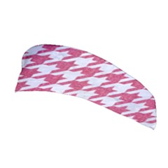 Houndstooth1 White Marble & Pink Denim Stretchable Headband