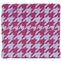 HOUNDSTOOTH1 WHITE MARBLE & PINK DENIM Back Support Cushion View4