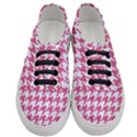 HOUNDSTOOTH1 WHITE MARBLE & PINK DENIM Women s Classic Low Top Sneakers View1