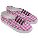 HOUNDSTOOTH1 WHITE MARBLE & PINK DENIM Women s Classic Low Top Sneakers View3
