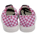 HOUNDSTOOTH1 WHITE MARBLE & PINK DENIM Women s Classic Low Top Sneakers View4