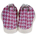 HOUNDSTOOTH1 WHITE MARBLE & PINK DENIM Men s Mid-Top Canvas Sneakers View4