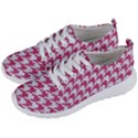 HOUNDSTOOTH1 WHITE MARBLE & PINK DENIM Men s Lightweight Sports Shoes View2